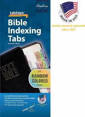 Bible Tab-Rainbow O&N Testament