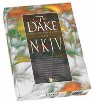 NKJV Dake Annotated Reference Bible-Burgundy Leather-Soft