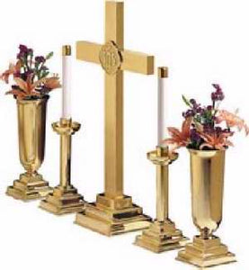"Altar Ware-Cross-30"" Brass For 30"" Altar Set (RW 1030)"