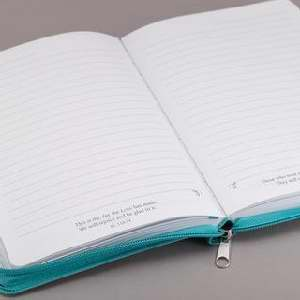 Journal-I Can Do Everything-Lux-Leather-Teal w/Zipper
