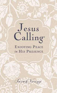 Jesus Calling (Deluxe Edition) Large Print-White Linen Fabric Over Board Enjoying Peace In His Presence