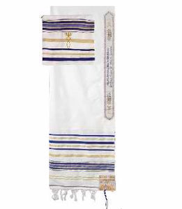 "PRAYER SHAWL-Blue w/Bag (72"" x 22"")-Acrylic"