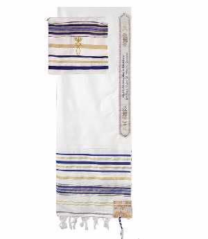 PRAYER SHAWL-Blue w/Bag (72