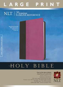 NLT2 Premium Slimline Reference/Large Print Bible-Pink/Brown TuTone