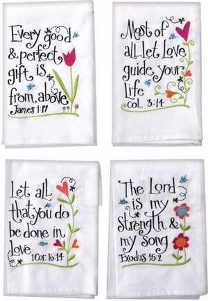 Hand Towel-Every Good & Perfect Gift (16 X 28) (Set Of 4)