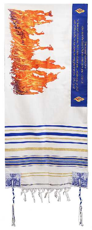Prayer Shawl-Flame Of Pentecost (72