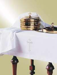Communion-Table Cloth & Element Cover Set-Latin Cross (Set Of 2)
