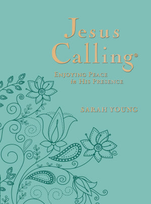 Jesus Calling (Deluxe Edition)-Large Print-Teal Leather Soft