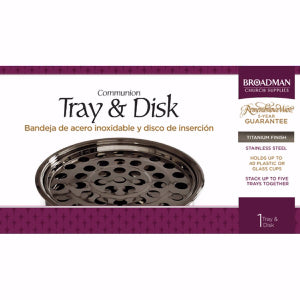 Communion-Remembrance Ware-Titanium Tray And Disc (Stainless Steel)