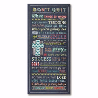 "Plaque-Don't Quit (8""x 17"")"