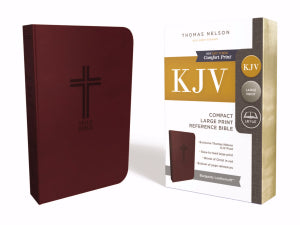 KJV Compact Large Print Reference Bible (Comfort Print)-Burgundy Value Leathersoft