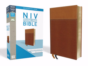 NIV Thinline Bible (Comfort Print)-Tan Leathersoft