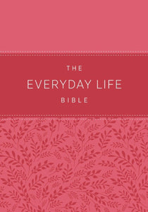 Amplified New Everyday Life Bible-Light Pink Euroluxe