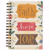 Scripture Wirebound Journal-Faith Hope Love