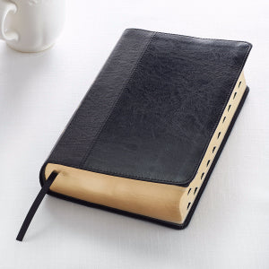 KJV Giant Print Bible-Black LuxLeather Indexed