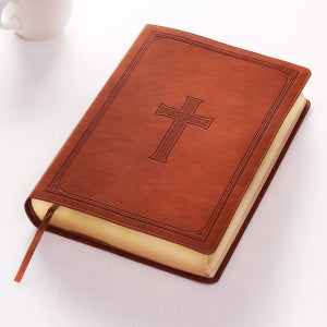 KJV Super Giant Print Bible-Tan LuxLeather
