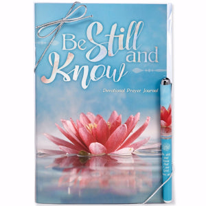 Journal & Pen Gift Set-Be Still And Know (Psalm 46:10 KJV)