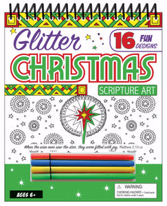 Glitter Christmas Scripture Art