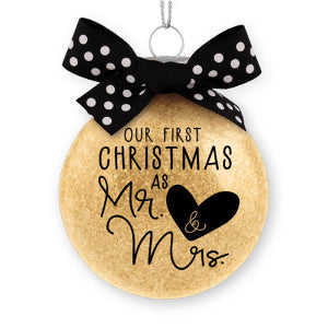 Ornament-Special Moments: Our First Christmas as Mr. & Mrs.