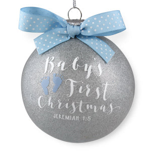 Ornament-Special Moments: Baby's First Christmas-Blue