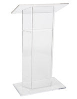 Clear Podium in Durable Plexiglass with Contemporary Design