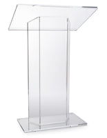 Acrylic Podium, Large Reading Surface - Clear