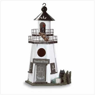 Lighthouse Bird House - Nautical Nest