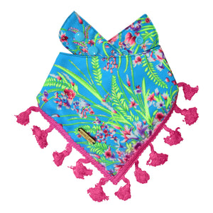 Aqua La Vista Dog Bandana