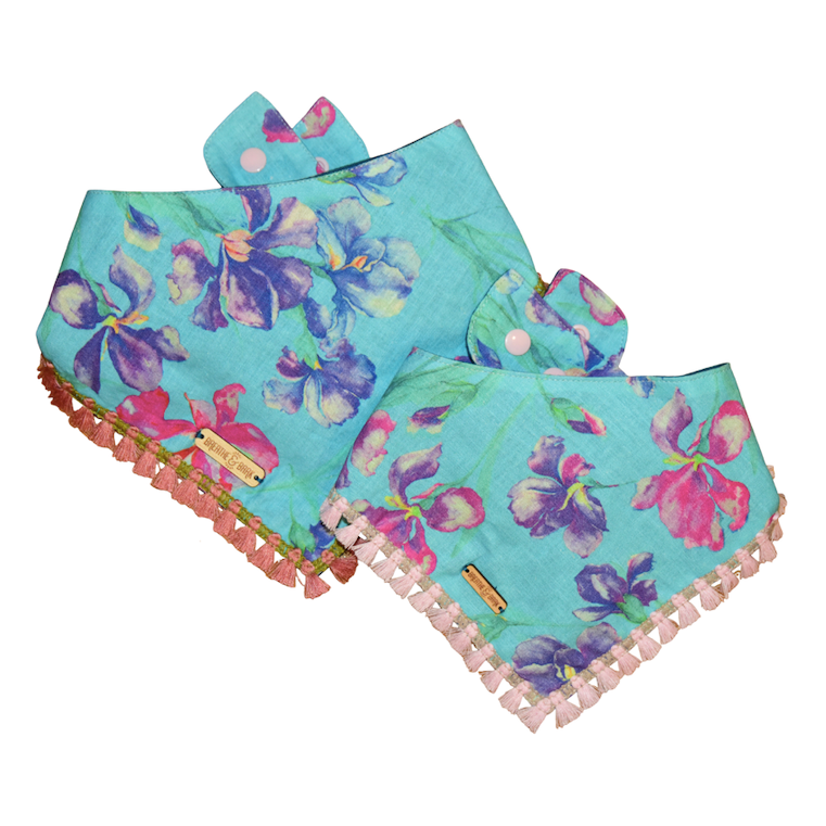 Blue Orchid Dog Bandana