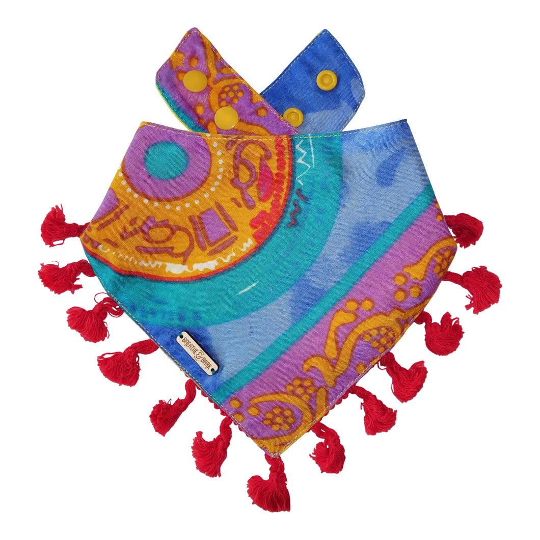 Blue Curacao Dog Bandana