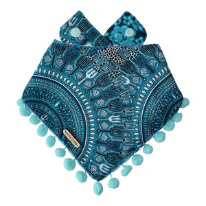 Chaturanga Yogi Dog Bandana with Pom Poms