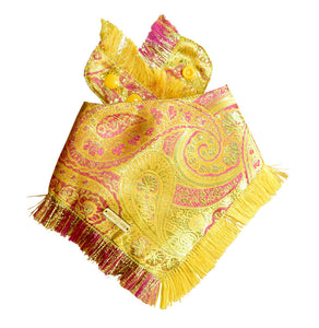 Citrine Sunrise Frayed Dog Bandana