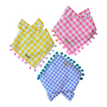 Load image into Gallery viewer, For Peep's Sake - Purple Checkered Dog Bandana