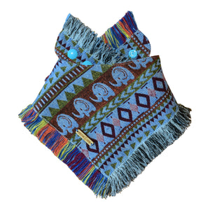 EARTH DAY Elephant Frayed Dog Bandana