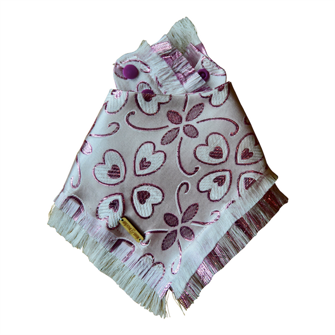 Blushed Frayed Dog Bandana