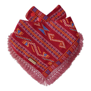 Fireburst Dog Bandana with Tassels
