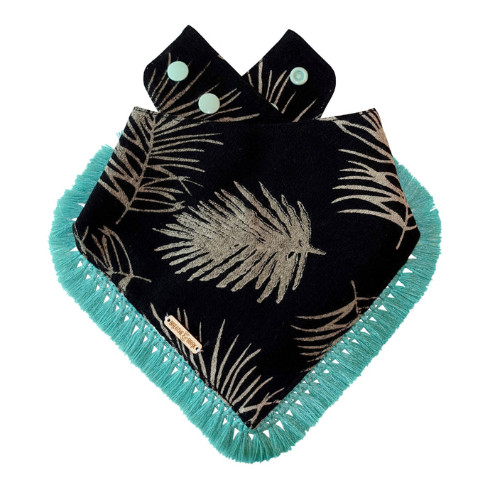 Luxury Palms Dog Bandana with Tassels