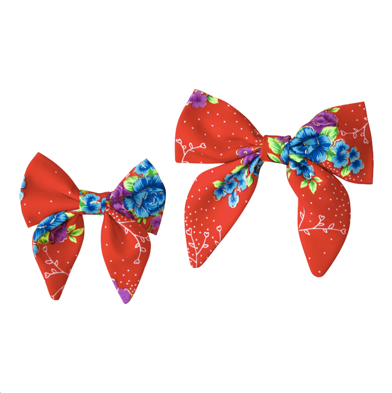 Cherished Rose Sailor Bow / Bow Tie