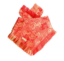 Load image into Gallery viewer, Ruby Romance Frayed Dog Bandana