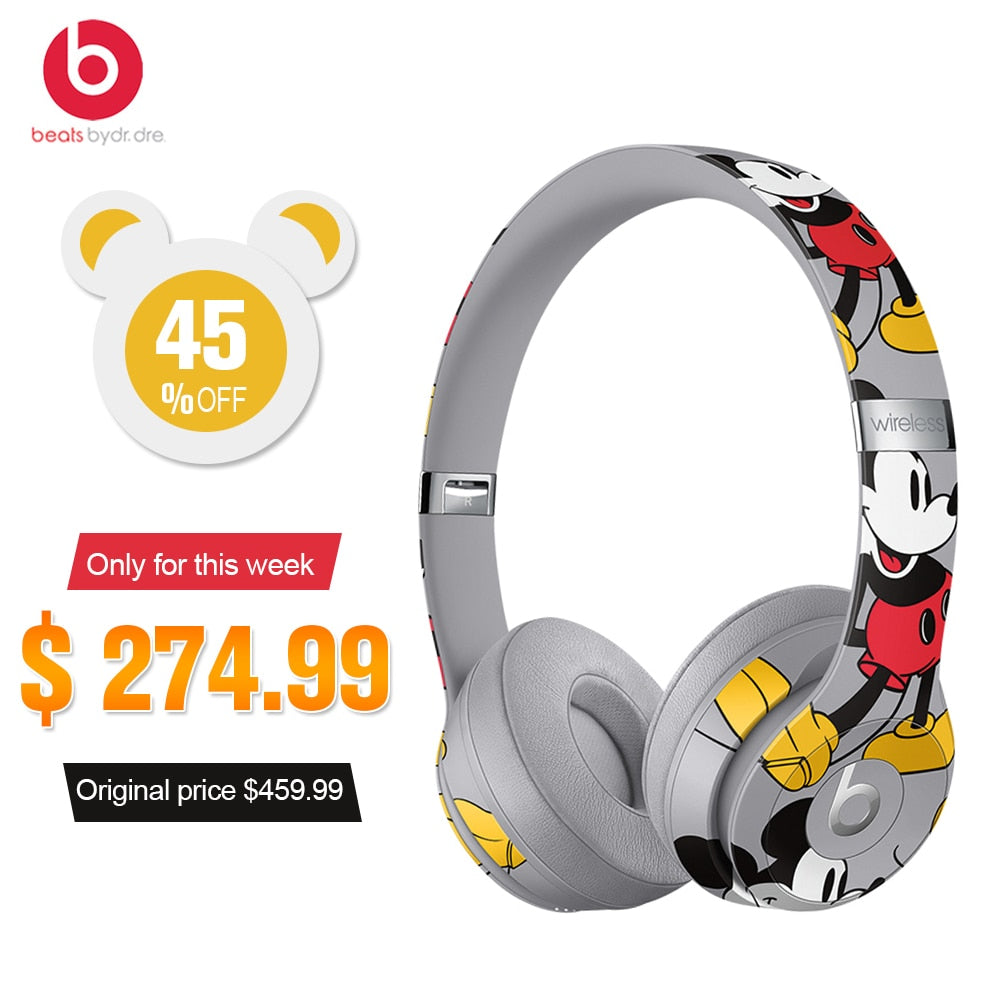6a78a0bd3c8 ... Beats Solo3 Wireless Bluetooth Headphones On Ear Headset Music  Hands-free with Mic Mickey's 90th