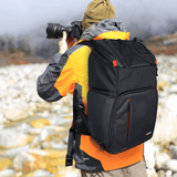 "Endurax Large Camera Backpack, Waterproof 2 DSLR Camera Bags for Canon Nikon with 15.6"" Laptop Compartment"
