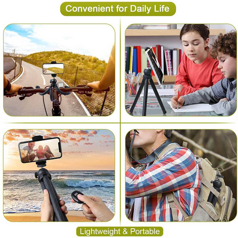 Endurax Flexible Tripod for Phone and Camera with Universal Cell Phone & Tablet Holder Mount