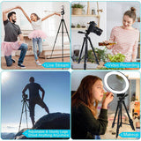 Endurax 60'' Camera Tripod Stand for DSLR with Universal Phone Mount, Bubble Level, and Carry Bag