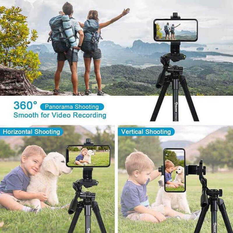 "Endurax Camera Tripod 60"" for Phone and Camera Aluminum DSLR Tripod Stand for Canon Nikon with Universal Phone Mount & Remote Shutter Max Load 6.6 lb"