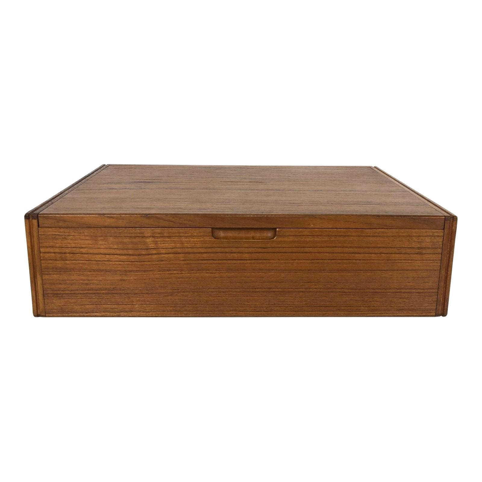Svend Langkilde Rosewood Jewelry Box with Interior Mirror, 1950s - The Exchange Int