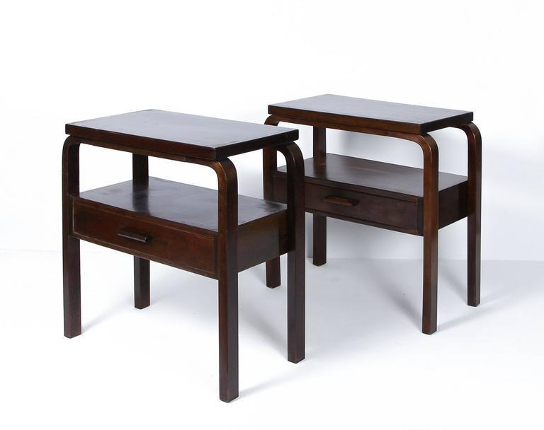 Early Alvar Aalto Pair of Side Tables circa 1940s
