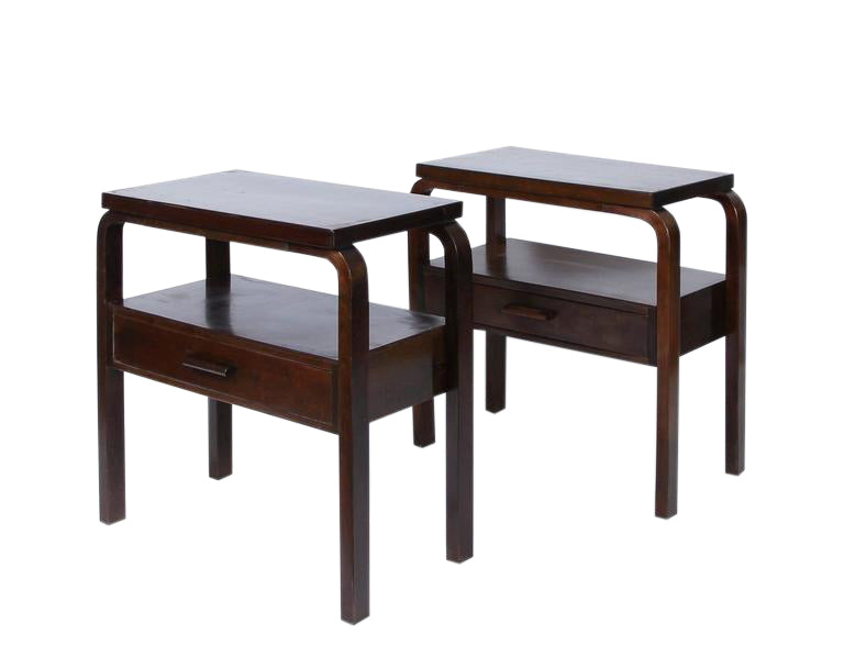Early Alvar Aalto Pair of Side Tables, circa 1940s - The Exchange Int