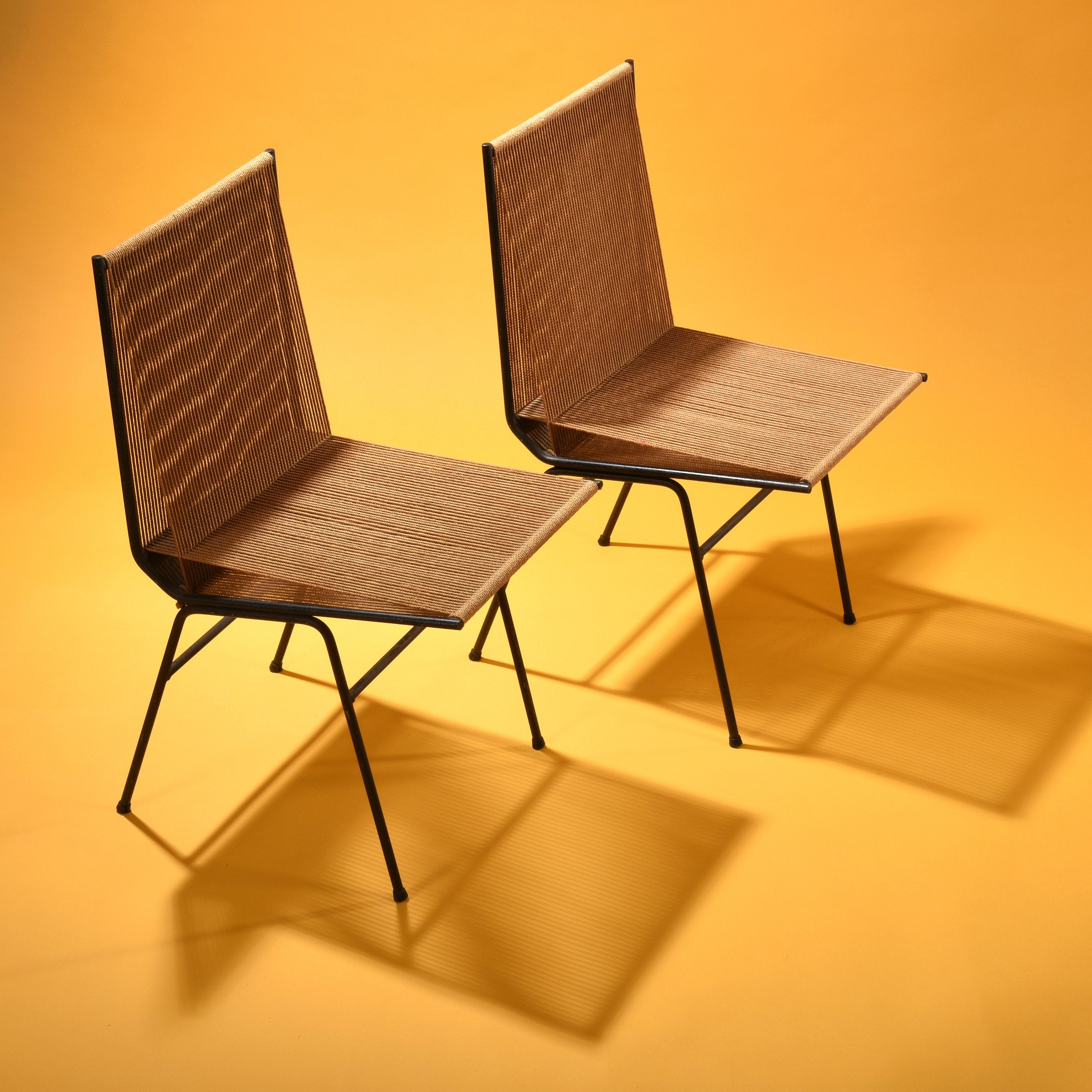 Allan Gould Pair of String Chairs circa 1952