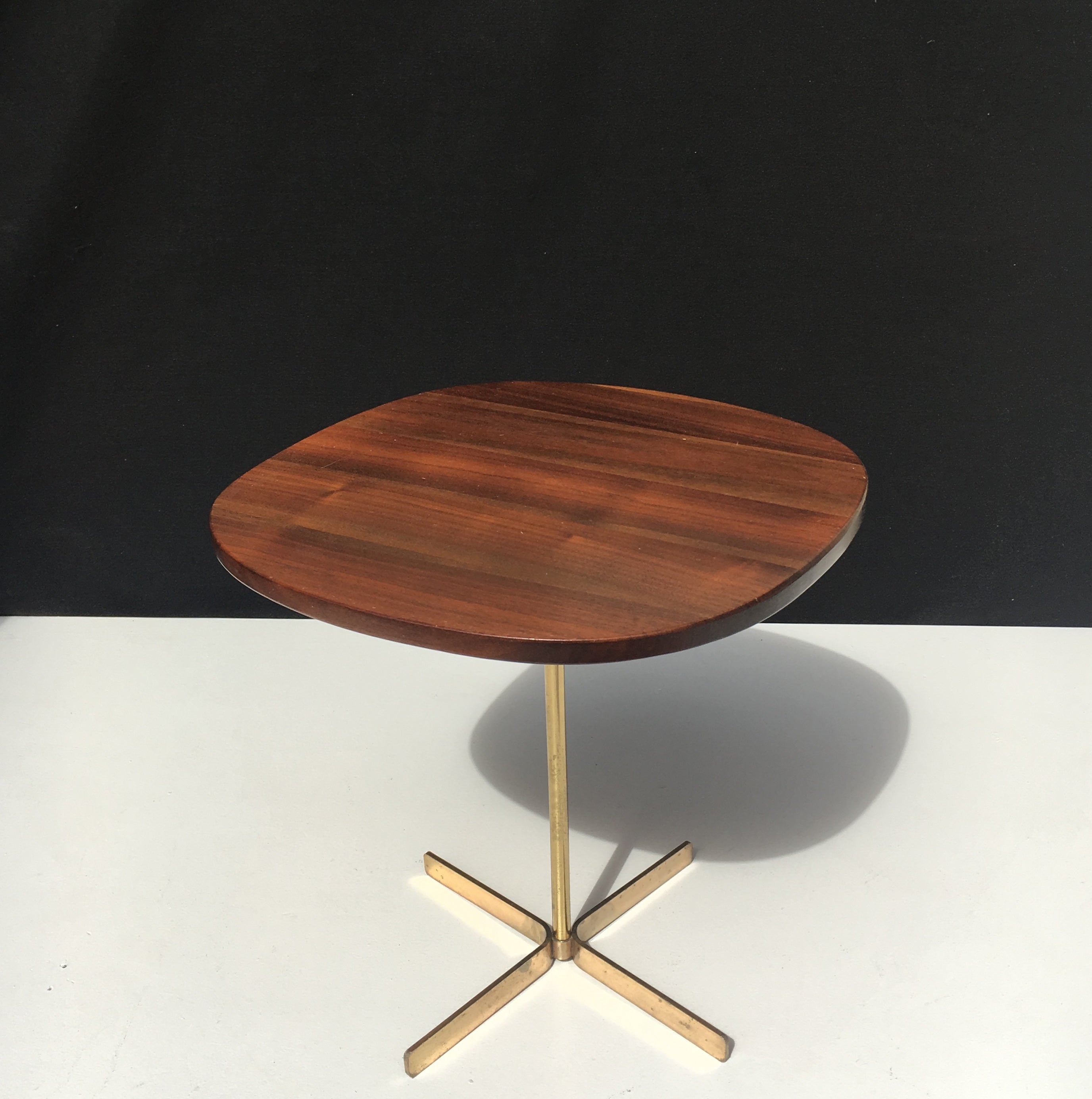 Allan Gould Side Table with Brass Base circa 1950s