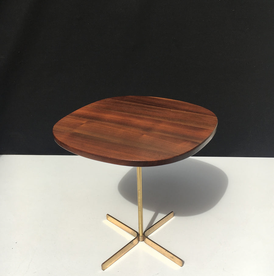 Allan Gould Side Table with Brass Base, circa 1950's